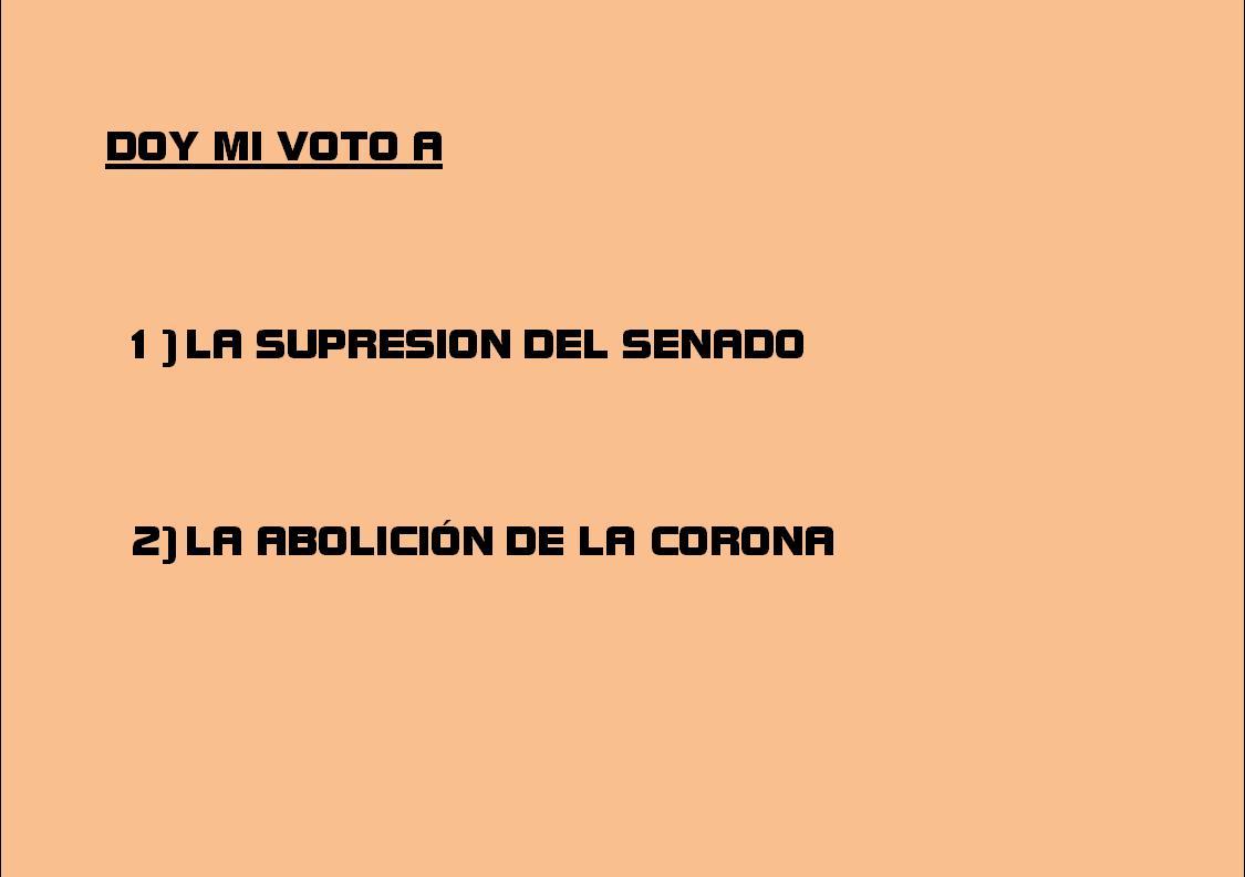 Voto al Senado